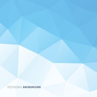 Fond Polygonale Bleu Ciel Vecteur Premium