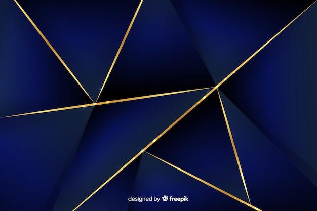 Fond polygonale bleu foncé élégant