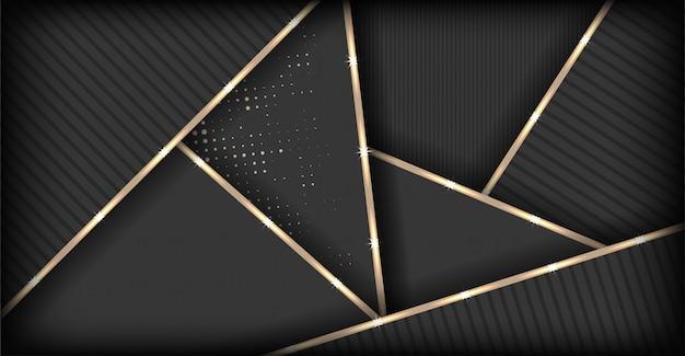 Fond polygonale brun foncé de luxe abstrait