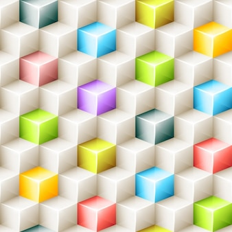 Fond polygonale colorful cubes