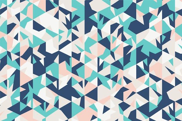 Fond polygonale design plat