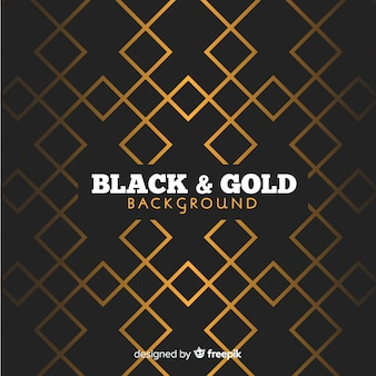 Fond polygonale doré