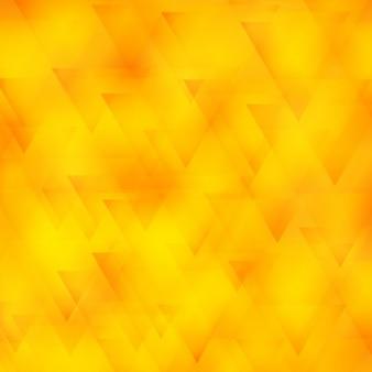 Fond polygonale jaune avec des triangles
