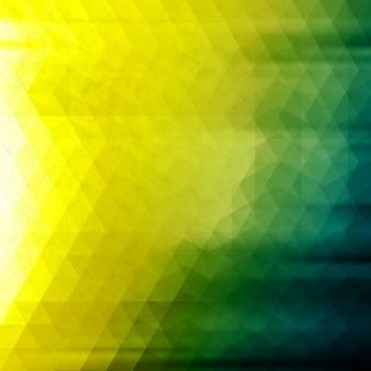 Fond polygonale jaune et vert