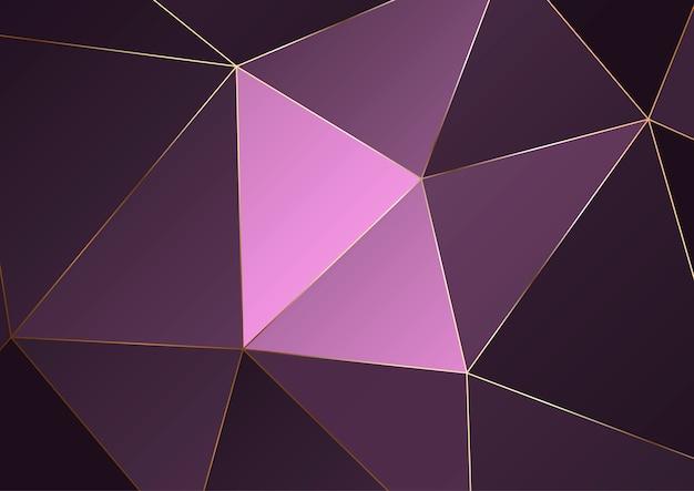 Fond polygonale de luxe