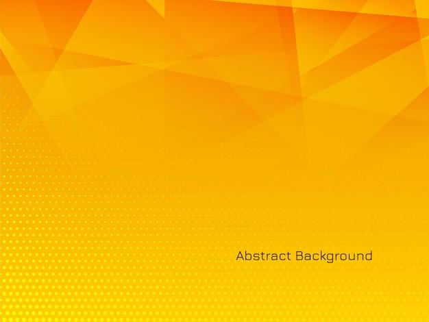 Fond polygonale moderne de couleur jaune
