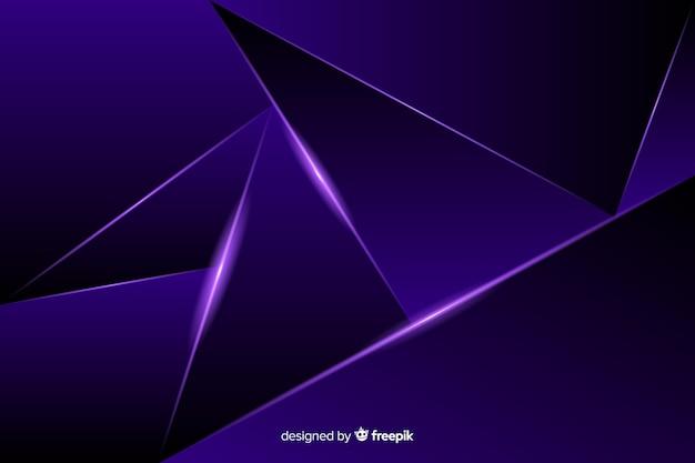 Fond polygonale sombre de luxe