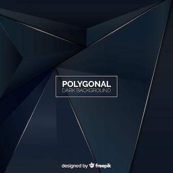 Fond polygonale sombre réaliste