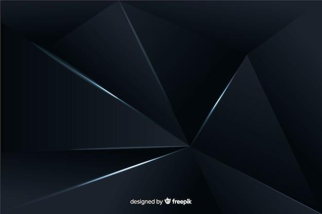 Fond polygonale sombre