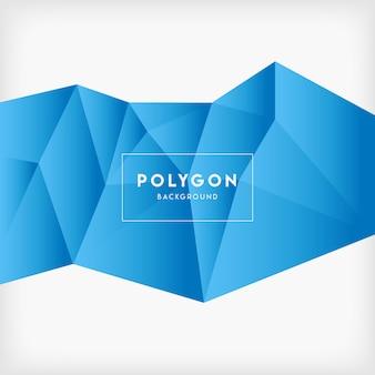 Fond de polygone bleu