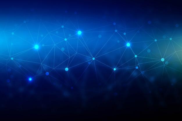 Fond de polygone de fil de technologie abstraite