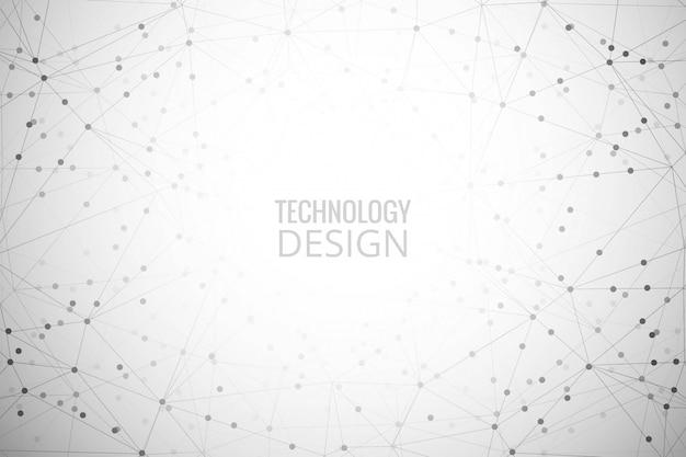 Fond de polygone de technologie numérique abstraite