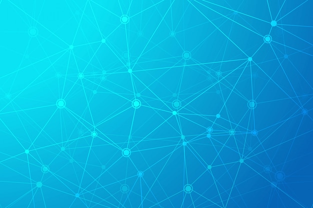 Fond de polygone de technologie numérique