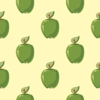 Fond de pommes vertes vecteur sans soudure de fond
