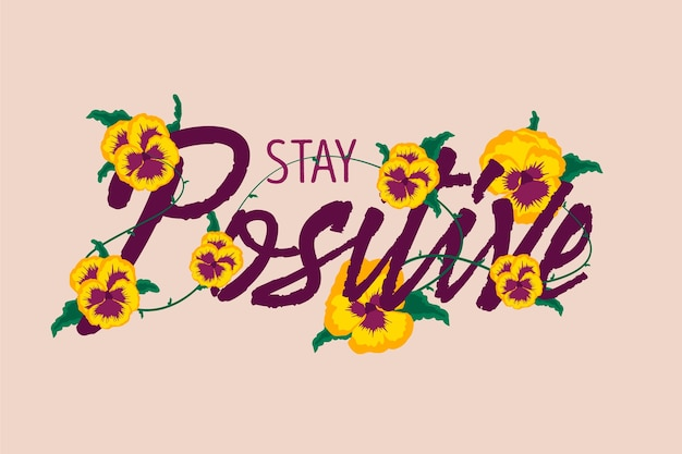 Fond positif avec des fleurs