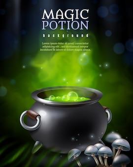 Fond de pot de poison mystérieux