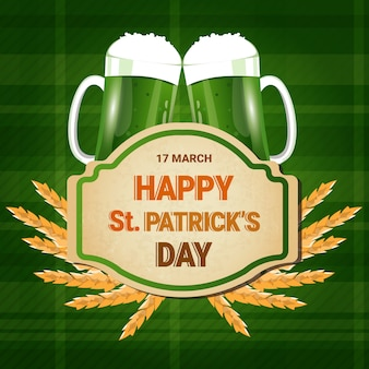 Fond de pots de bière saint patrick day