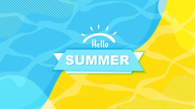 Fond pour bonjour l'été