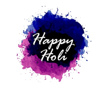 Fond pour le festival de holi avec des aquarelles violet