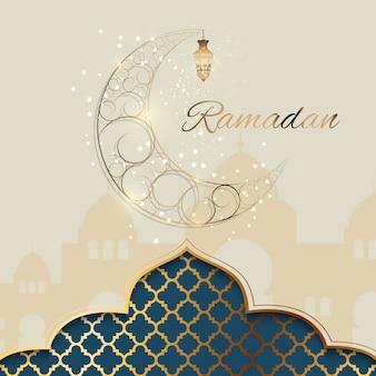 Fond pour la fête de la communauté musulmane ramadan kareem