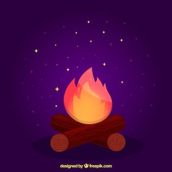 Fond pourpre feu de joie