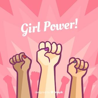 Fond de pouvoir fille