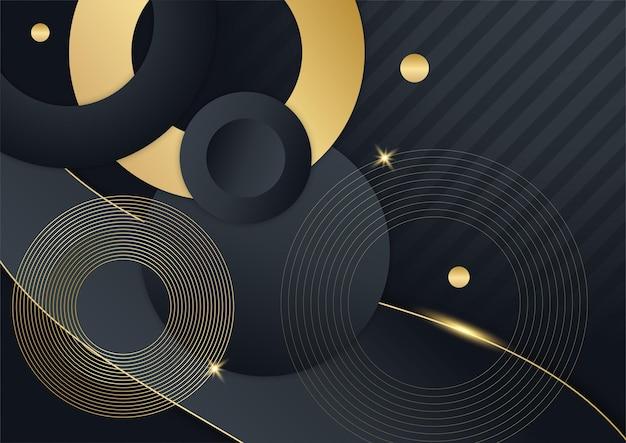 Fond de présentation abstrait noir. l'arrière-plan en or noir chevauche la dimension géométrique abstraite moderne. fond d'or noir marine élégant avec couche de chevauchement. costume pour les affaires et les entreprises
