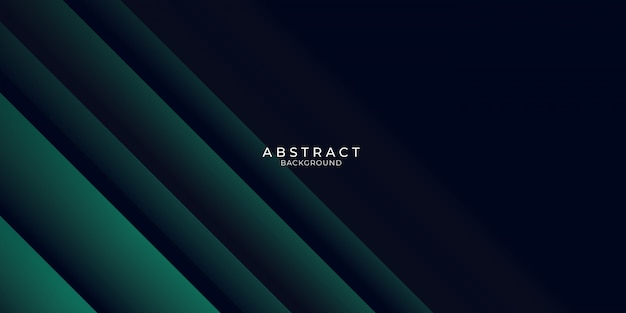Fond de présentation abstraite d'affaires moderne noir vert foncé