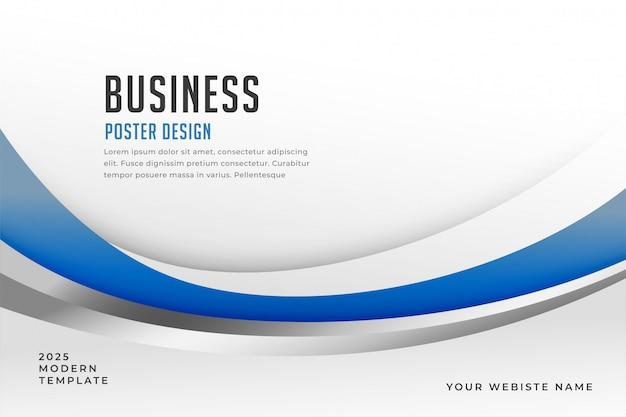 Fond de présentation d'affaires bleu élégant