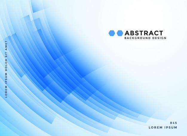 Fond de présentation de formes abstraites bleu