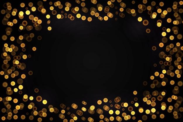 Fond de présentation des lumières dorées