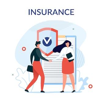 Fond de présentation des services d'assurance