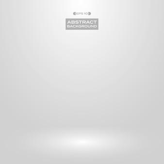 Fond de présentation de studio dégradé gris blanc doux.