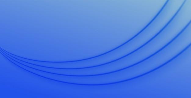 Fond de présentation de la vague bleue moderne