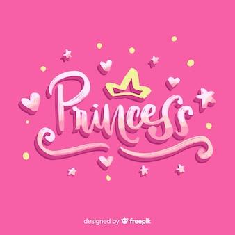 Fond de princesse calligraphique