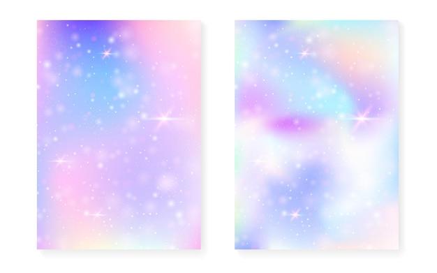 Fond de princesse avec dégradé arc-en-ciel. hologramme magique