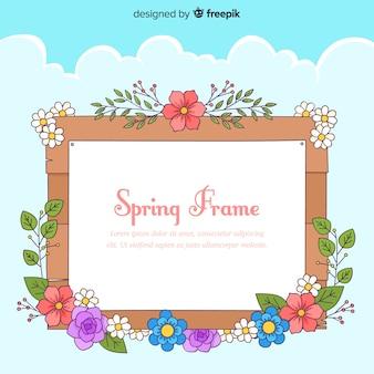 Fond de printemps cadre floral