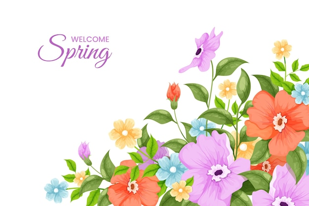 Fond de printemps coloré