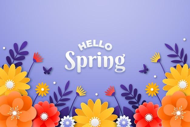 Fond de printemps dans un style de papier coloré