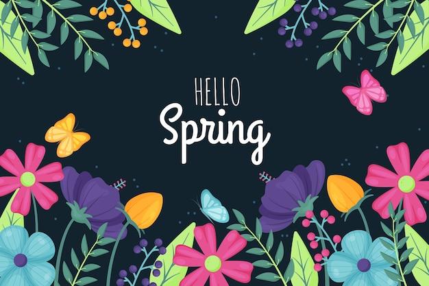Fond de printemps design plat