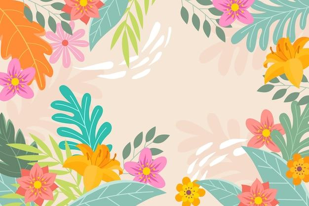 Fond de printemps dessiné créatif