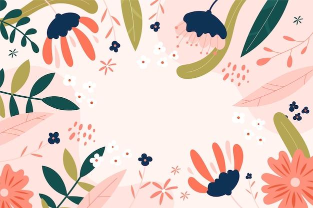Fond de printemps dessiné à la main avec un espace vide