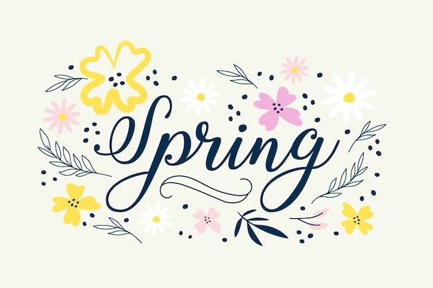 Fond de printemps dessiné à la main