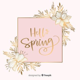 Fond de printemps doré