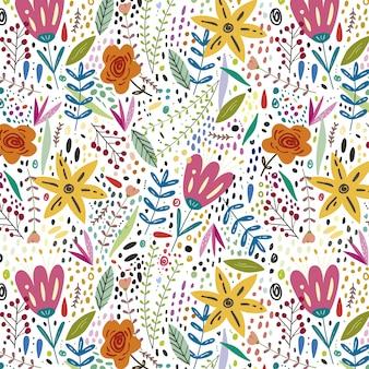 Fond de printemps floral coloré