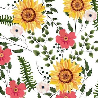 Fond de printemps floral
