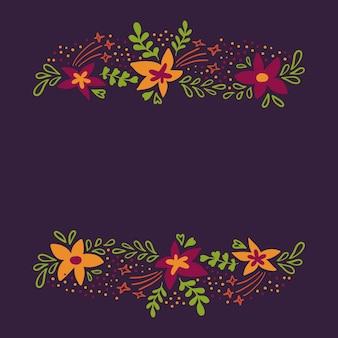 Fond de printemps avec de jolies fleurs colorées dans un style plat.