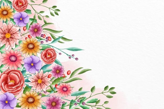 Fond de printemps peint à la main