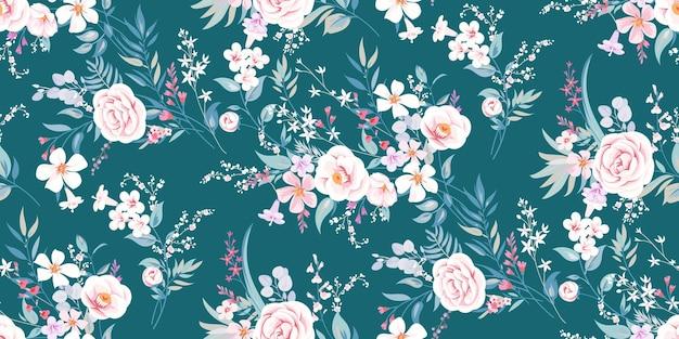 Fond de printemps sans couture avec motif floral