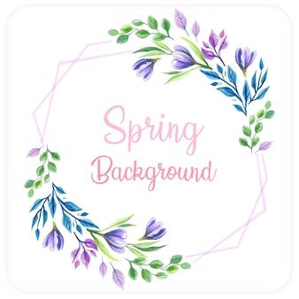 Fond de printemps violet